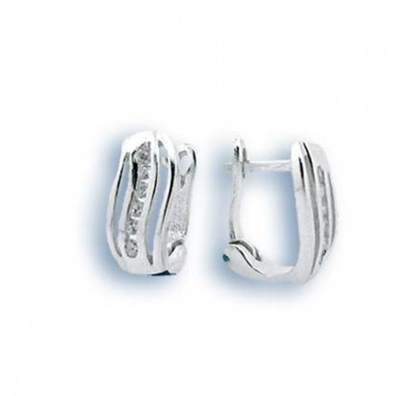 Bonita - Сребърни обеци с Цирконий 138980-Сребърни бижута