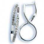 Melina - Сребърни обеци с Цирконий 139154-Сребърни бижута