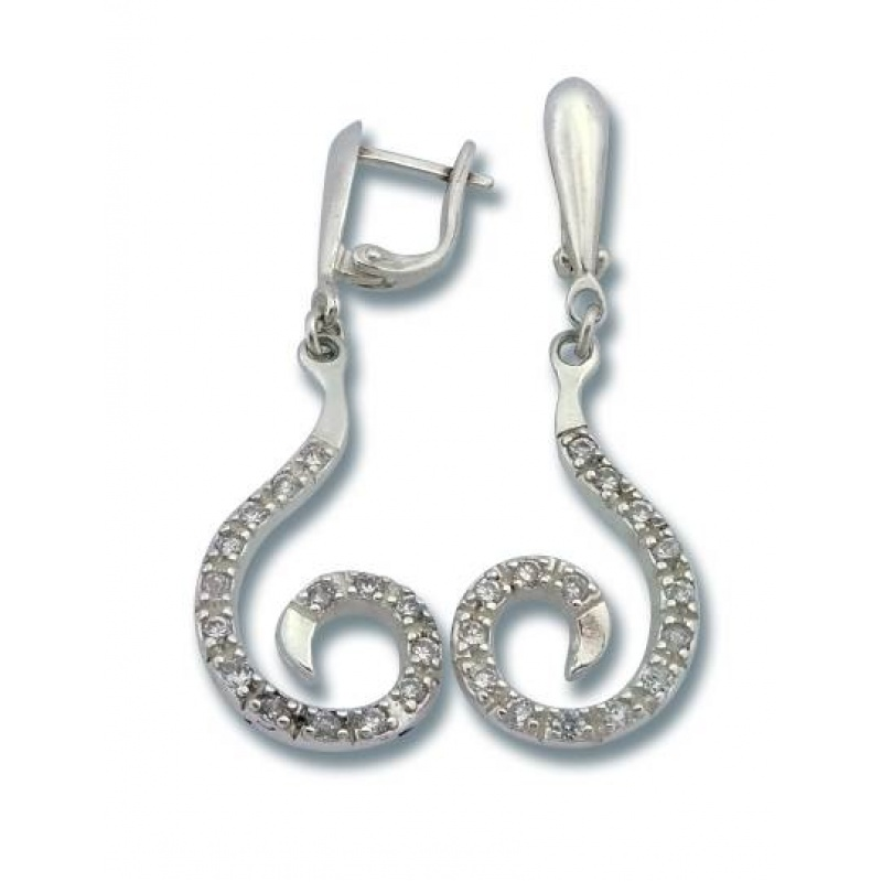 Janine - Сребърни обеци с Цирконий 139836-Сребърни бижута
