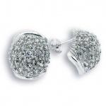 Rachel - Сребърни обеци с Цирконий 140838-Сребърни бижута