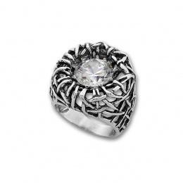 Trinity - Сребърен пръстен с Цирконий 1585928-Сребърни бижута