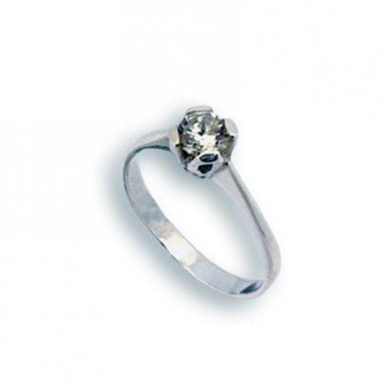 Marjorie - Сребърен пръстен с Цирконий 1604246-Сребърни бижута