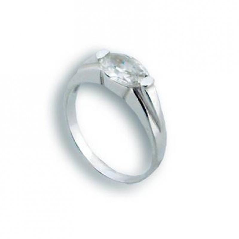 Amy - Сребърен пръстен с Цирконий 1604337-Сребърни бижута