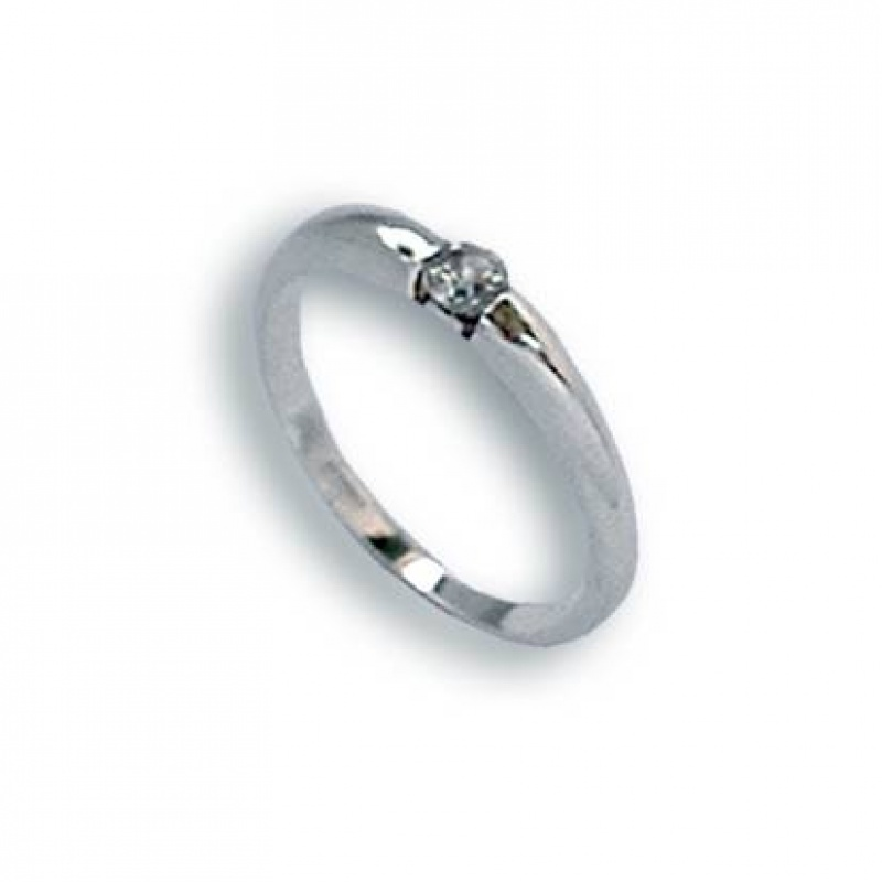 Martha - Сребърен пръстен с Цирконий 1604350-Сребърни бижута