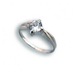 Maryann - Сребърен пръстен с Цирконий 1604351-Сребърни бижута