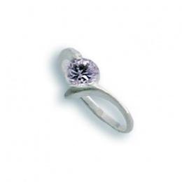 Yvette - Сребърен пръстен с Цирконий 1604353-Сребърни бижута