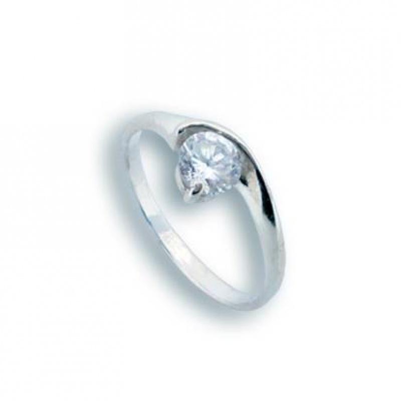 Gwendolyn - Сребърен пръстен с Цирконий 1604354-Сребърни бижута