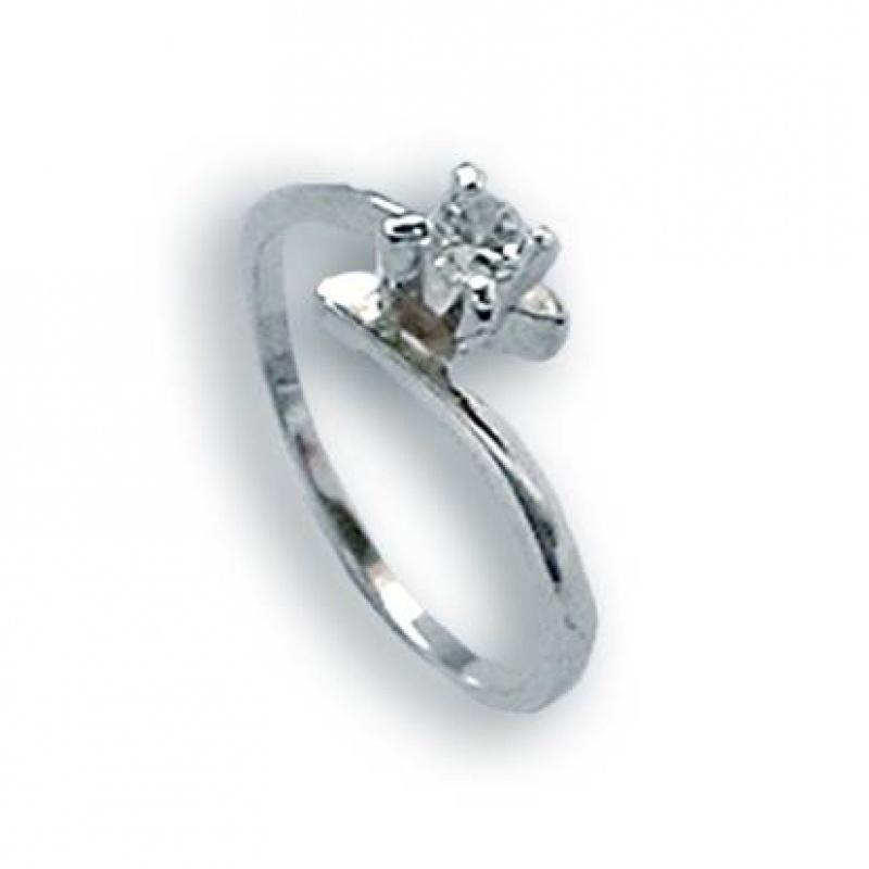 Jane - Сребърен пръстен с Цирконий 1604480-Сребърни бижута