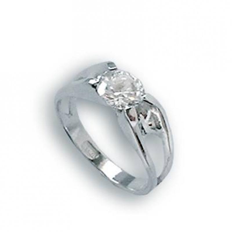 Lindsey - Сребърен пръстен с Цирконий 1604511-Сребърни бижута