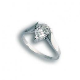 Crystal - Сребърен пръстен с Цирконий 1604722-Сребърни бижута