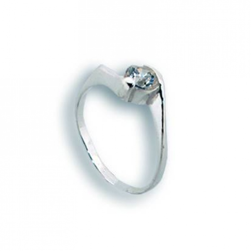 Katherin - Сребърен пръстен с Цирконий 1604724-Сребърни бижута