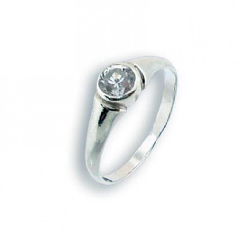 Lauren - Сребърен пръстен с Цирконий 1604751-Сребърни бижута