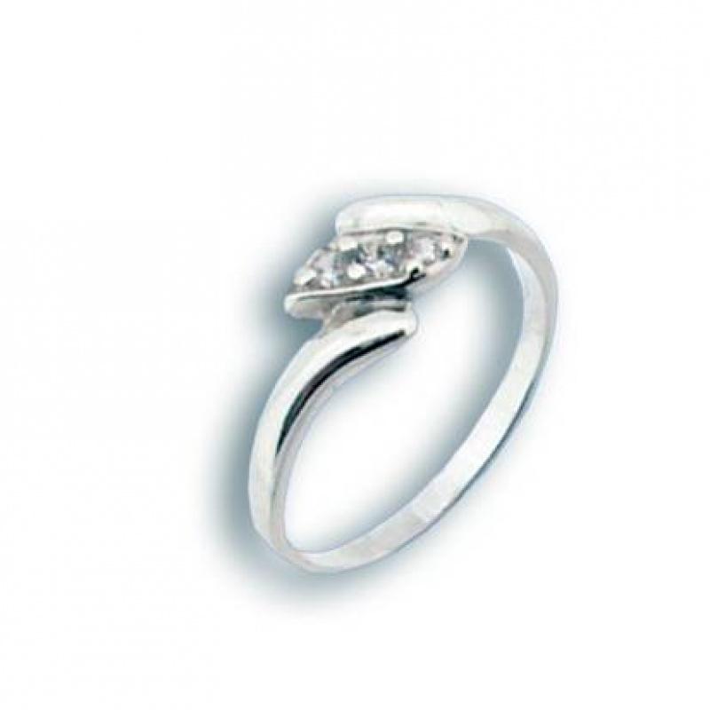 Michelle - Сребърен пръстен с Цирконий 1604752-Сребърни бижута