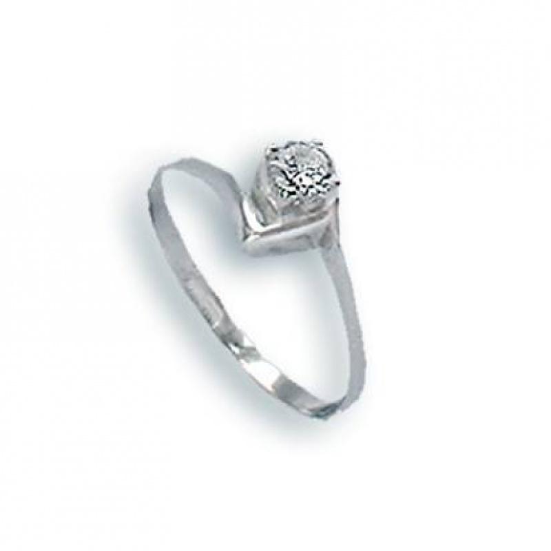 Bernice - Сребърен пръстен с Цирконий 1604754-Сребърни бижута