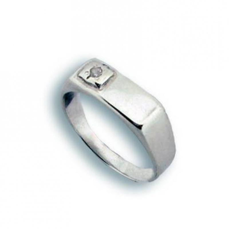 Dolores - Сребърен пръстен с Цирконий 1604767-Сребърни бижута