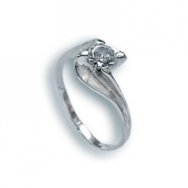 Gladys - Сребърен пръстен с Цирконий 1604830-Сребърни бижута