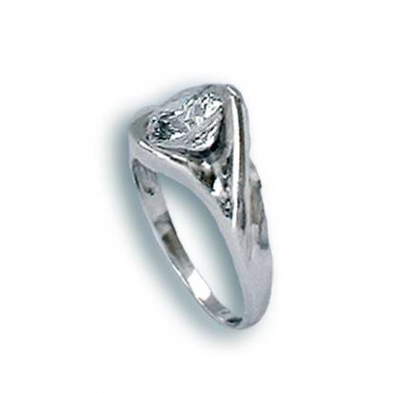 Priscilla - Сребърен пръстен с Цирконий 1604853-Сребърни бижута