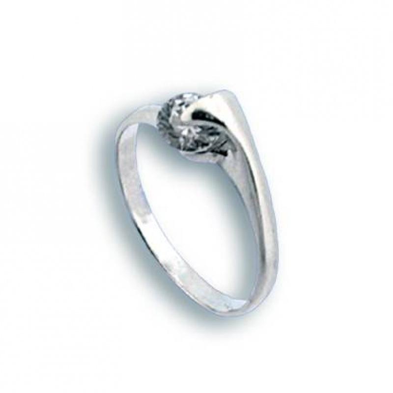 Agnes - Сребърен пръстен с Цирконий 1604875-Сребърни бижута
