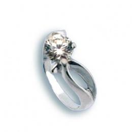 Brenda - Сребърен пръстен с Цирконий 1604882-Сребърни бижута