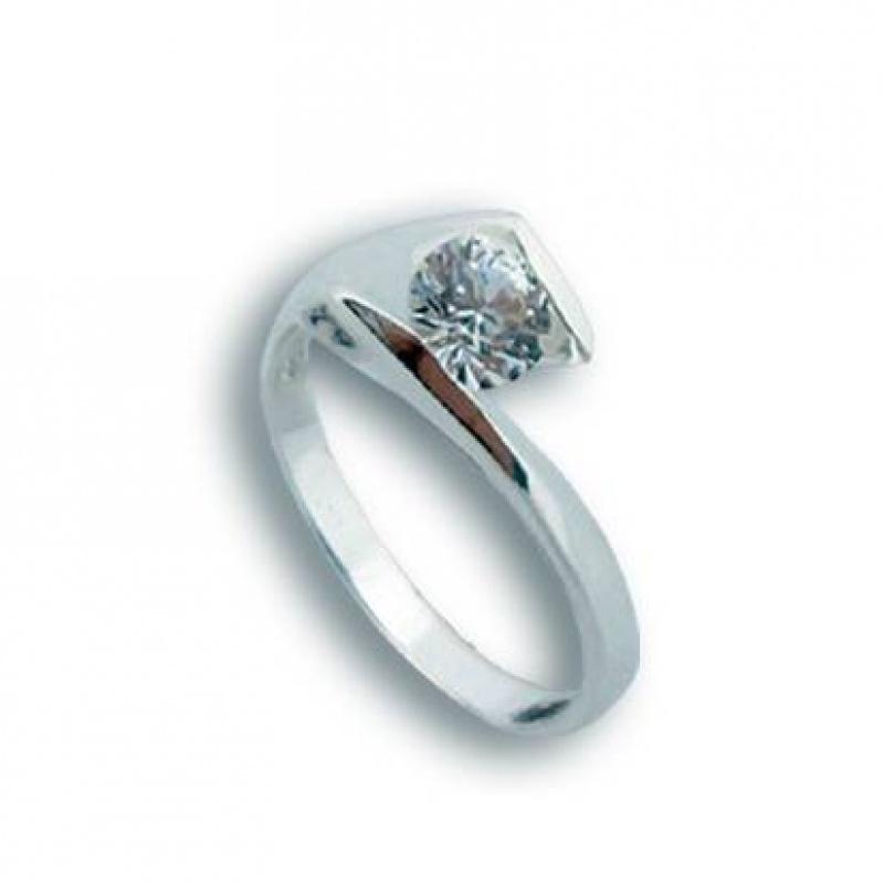 Dorothy - Сребърен пръстен с Цирконий 1604956-Сребърни бижута