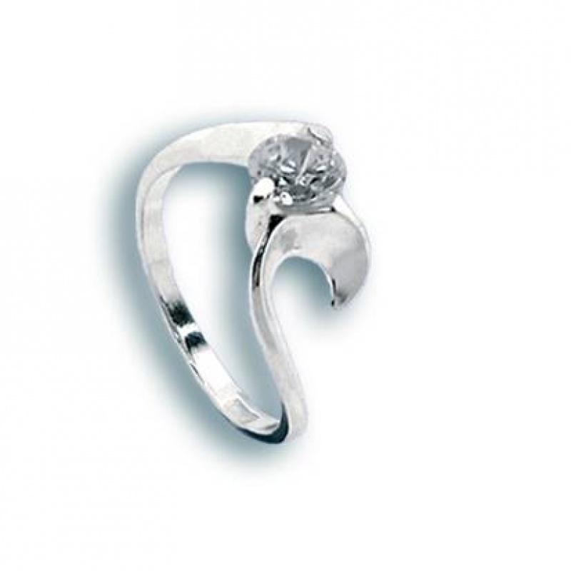 Margaret - Сребърен пръстен с Цирконий 1604986-Сребърни бижута
