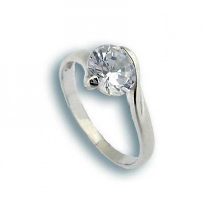 Joan - Сребърен пръстен с Цирконий 1605049-Сребърни бижута