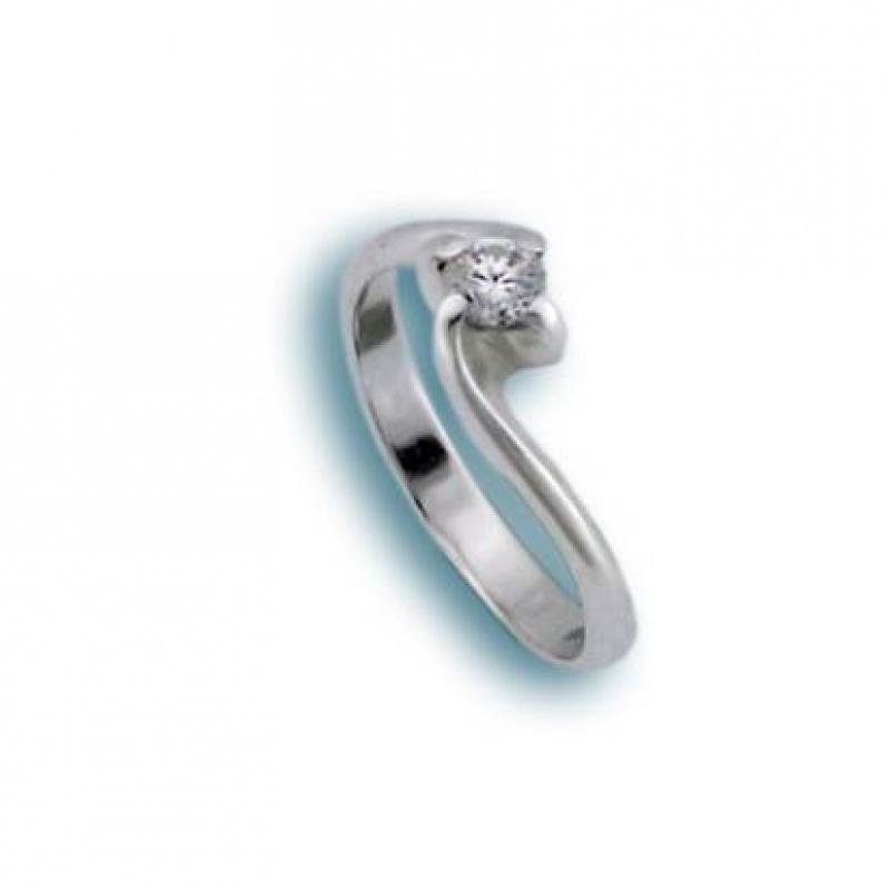 Lynda - Сребърен пръстен с Цирконий 1605165-Сребърни бижута