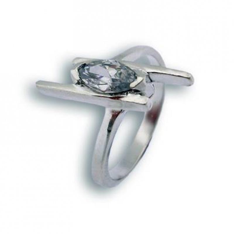 Stacy - Сребърен пръстен с Цирконий 1605401-Сребърни бижута