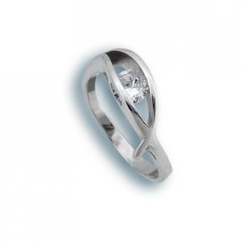 Joyce - Сребърен пръстен с Цирконий 1605758-Сребърни бижута