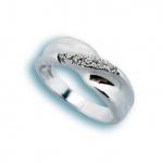 Amber - Сребърен пръстен с Цирконий 1614542-Сребърни бижута