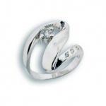 Wendy - Сребърен пръстен с Цирконий 1614672-Сребърни бижута