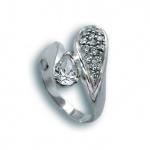 Karen - Сребърен пръстен с Цирконий 1614742-Сребърни бижута