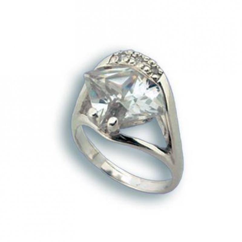 Molly - Сребърен пръстен с Цирконий 1614836-Сребърни бижута