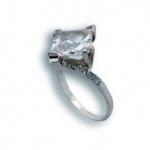 Kristen - Сребърен пръстен с Цирконий 1614837-Сребърни бижута