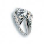 Coleen - Сребърен пръстен с Цирконий 1614930-Сребърни бижута