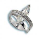 Janet - Сребърен пръстен с Цирконий 1615183-Сребърни бижута