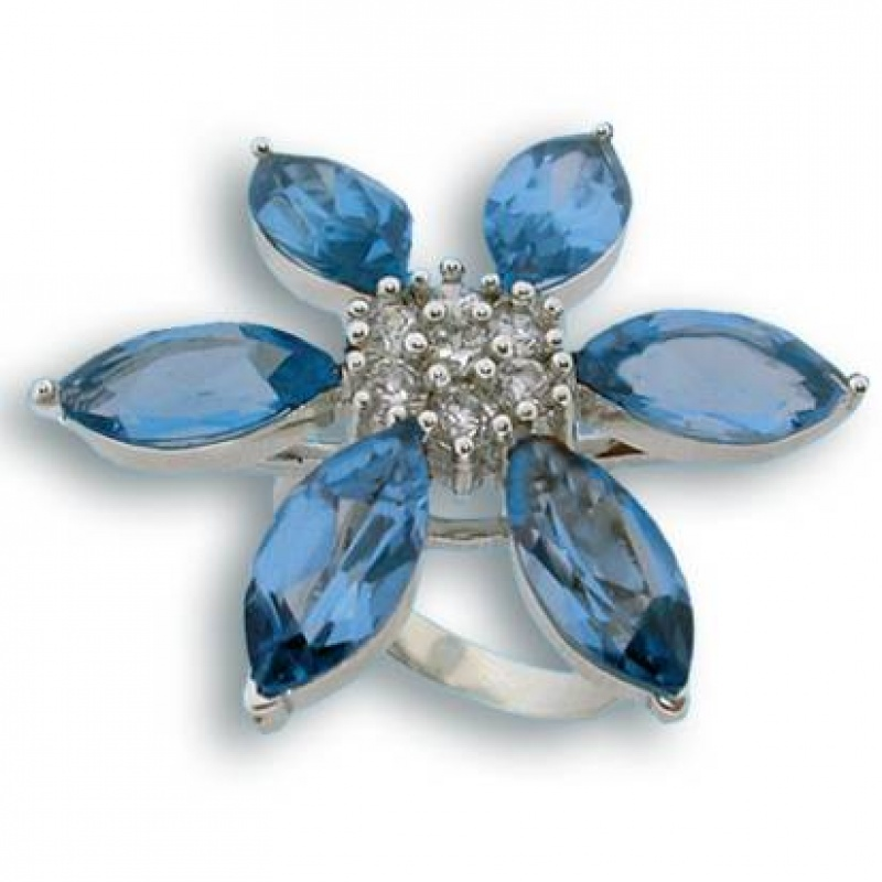 Kendra - Сребърен пръстен с Цирконий 1615458-Сребърни бижута