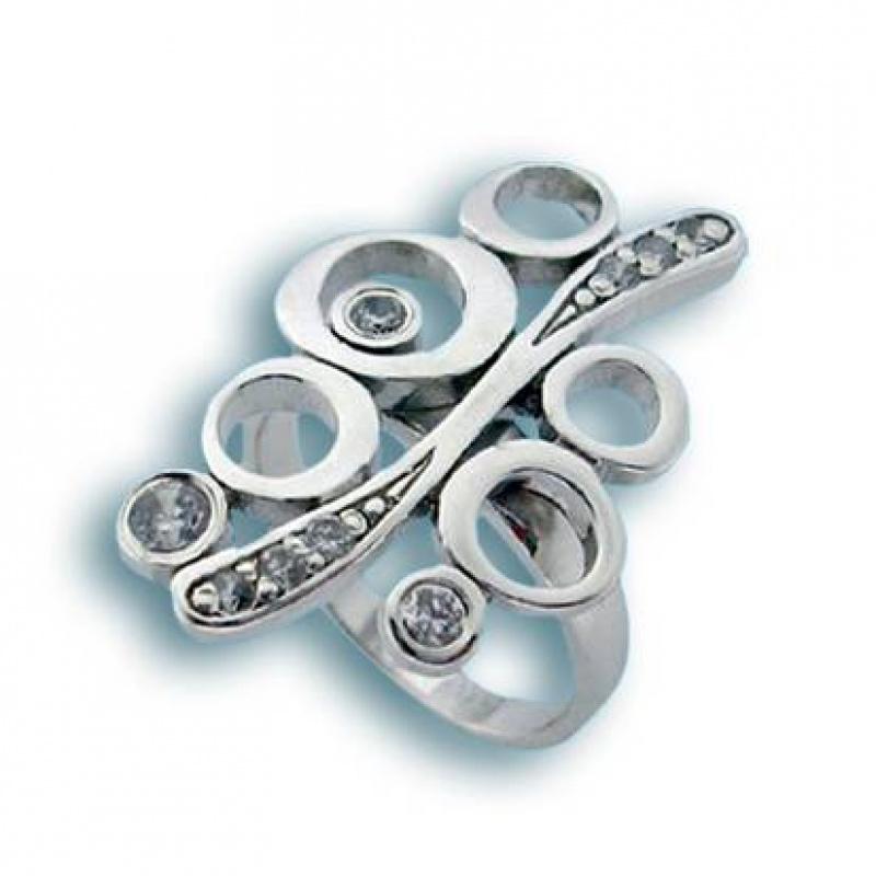 Jasmine - Сребърен пръстен с Цирконий 1615611-Сребърни бижута