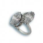 Adrienne - Сребърен пръстен с Цирконий 1615632-Сребърни бижута