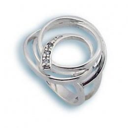 Nadine - Сребърен пръстен с Цирконий 1615748-Сребърни бижута