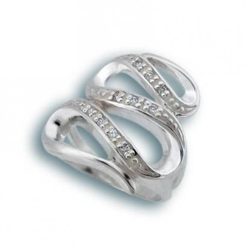Rosemarie - Сребърен пръстен с Цирконий 1615755-Сребърни бижута
