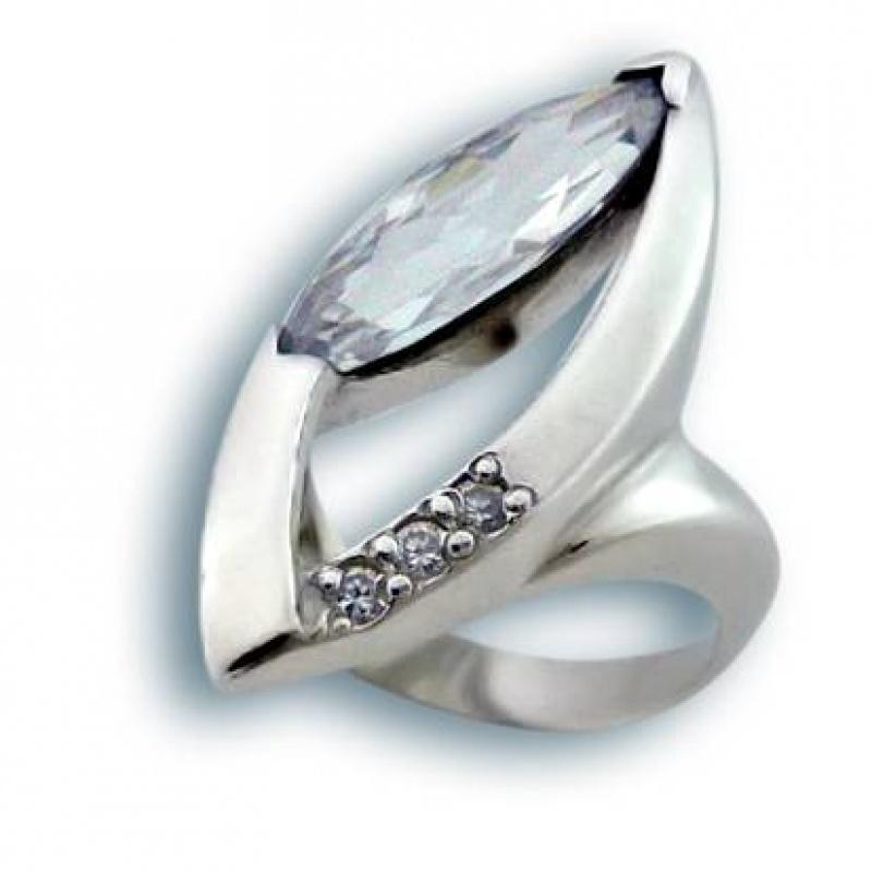 Ginger - Сребърен пръстен с Цирконий 1615790-Сребърни бижута