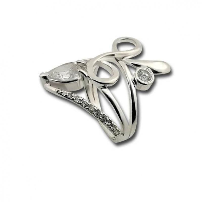 Rosalie - Сребърен пръстен с Цирконий 1615821-Сребърни бижута