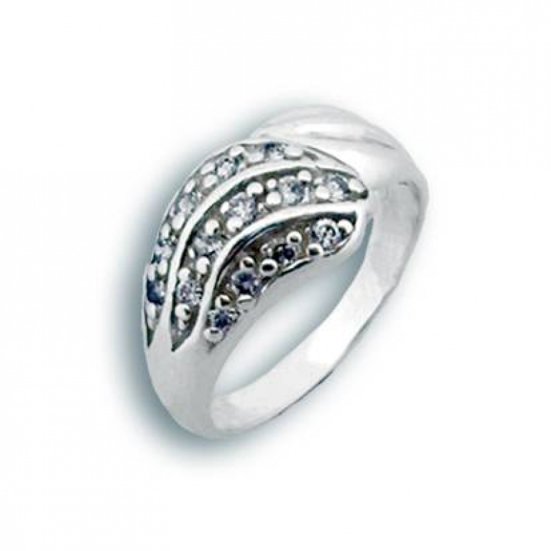 Kate - Сребърен пръстен с Цирконий 1624750-Сребърни бижута