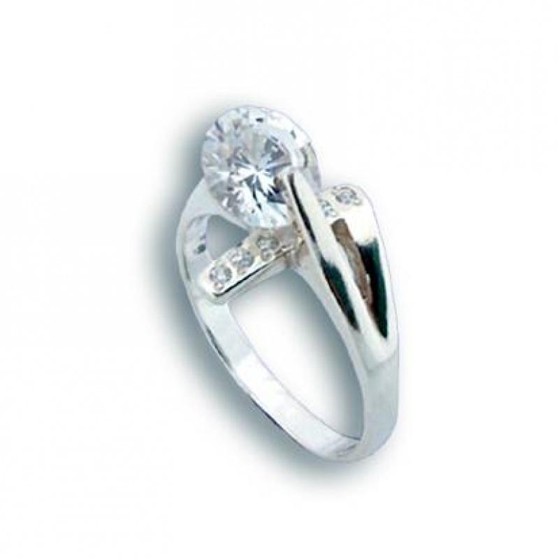Alisha - Сребърен пръстен с Цирконий 1624876-Сребърни бижута