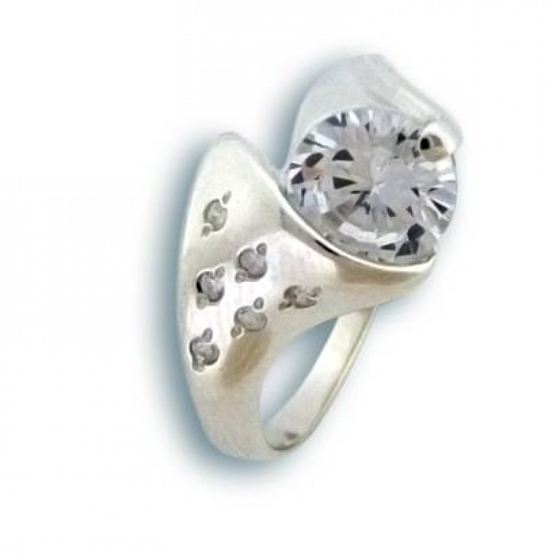 Lucinda - Сребърен пръстен с Цирконий 1624878-Сребърни бижута