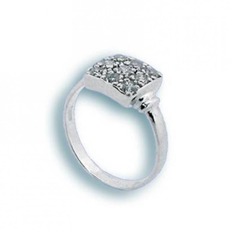 Celeste - Сребърен пръстен с Цирконий 1624978-Сребърни бижута