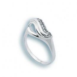 Patrice - Сребърен пръстен с Цирконий 1624983-Сребърни бижута