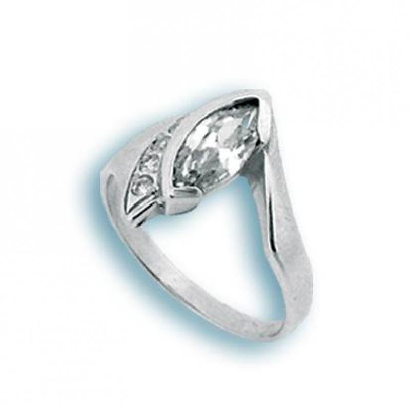 Shelbi - Сребърен пръстен с Цирконий 1624995-Сребърни бижута