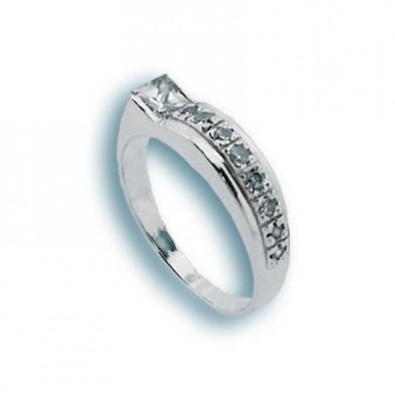Addie - Сребърен пръстен с Цирконий 1624998-Сребърни бижута